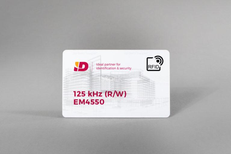 125 kHz (R/W) bijele PVC kartice EM4550