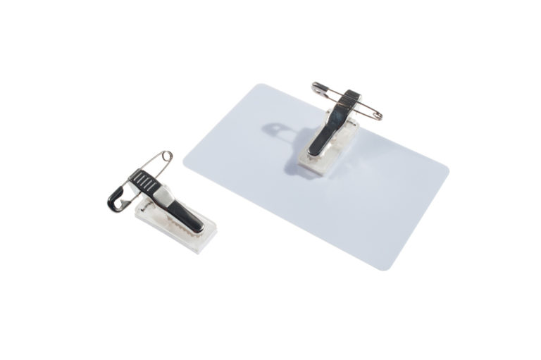Self-adhesive pin / clip combo