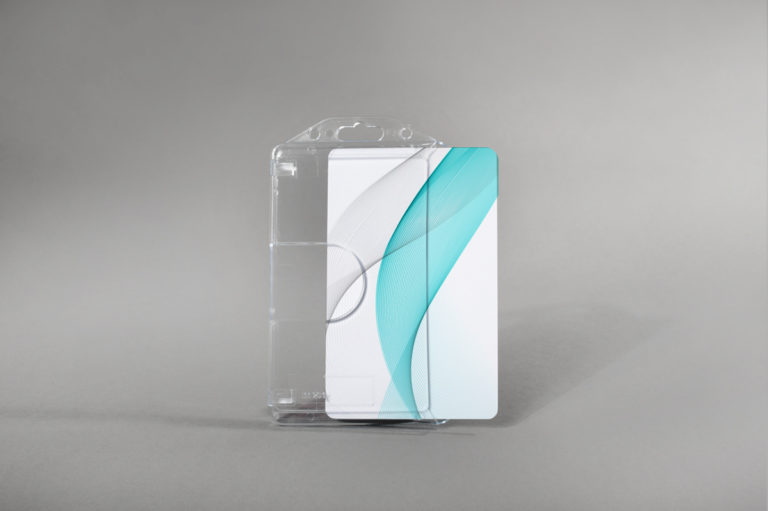 Premium trdi etui za kartice z zarezo za prst (vertikalni)