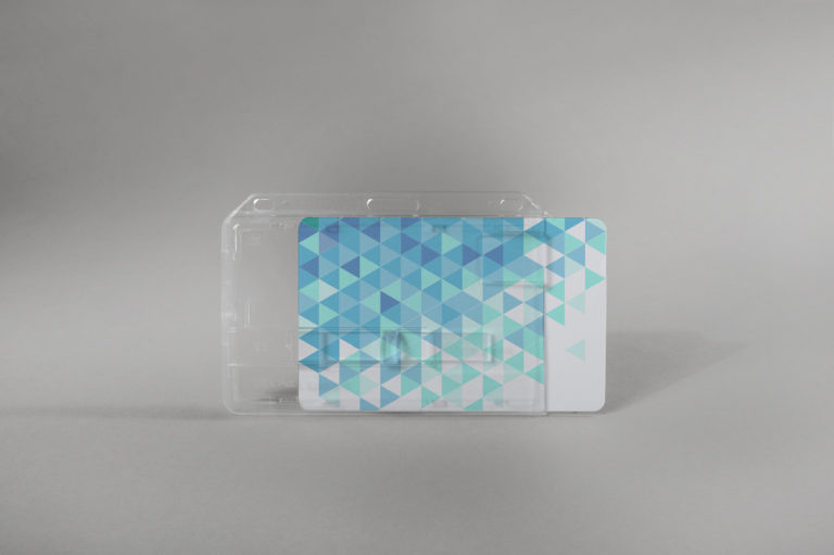 Rigid card holder with slide (horizontal)