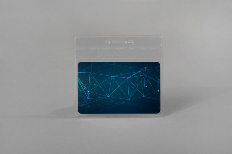 Soft card holder with reinforced edges (horizontal)
