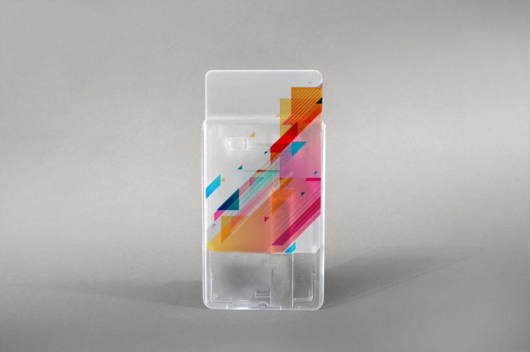 Trdi etui za kartice z drsnikom (vertikalni)