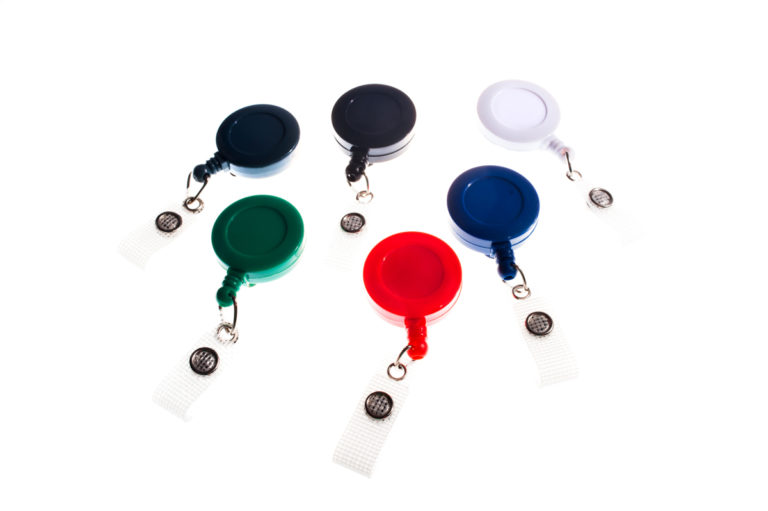 Classic badge reel with belt clip