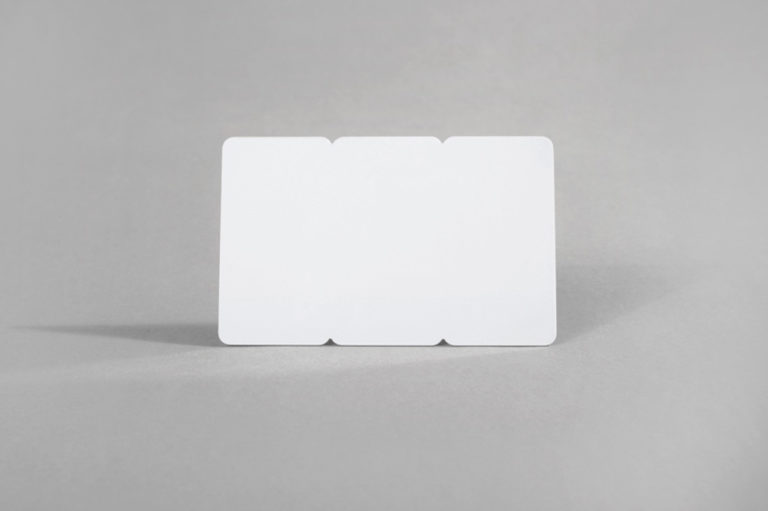Blank white 3 Tag PVC cards