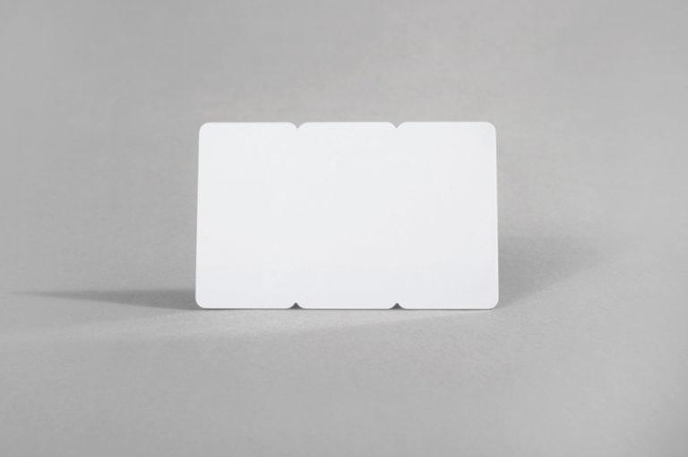 Prazne bele 3 Tag PVC kartice