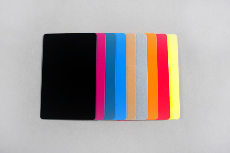Blank colour PVC cards CR80 30 mil