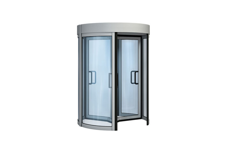 Visoka steklena vrtljiva vrata