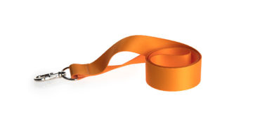 Orange printed lanyards