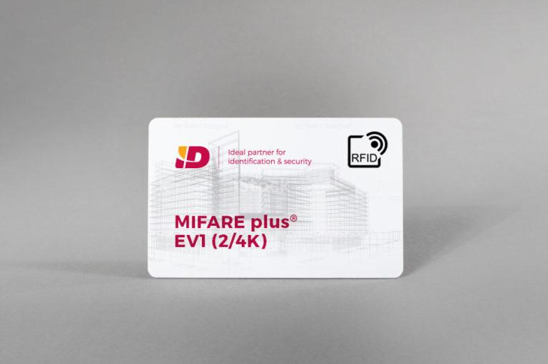 MIFARE plus® EV1 (2/4K) bela PVC kartice
