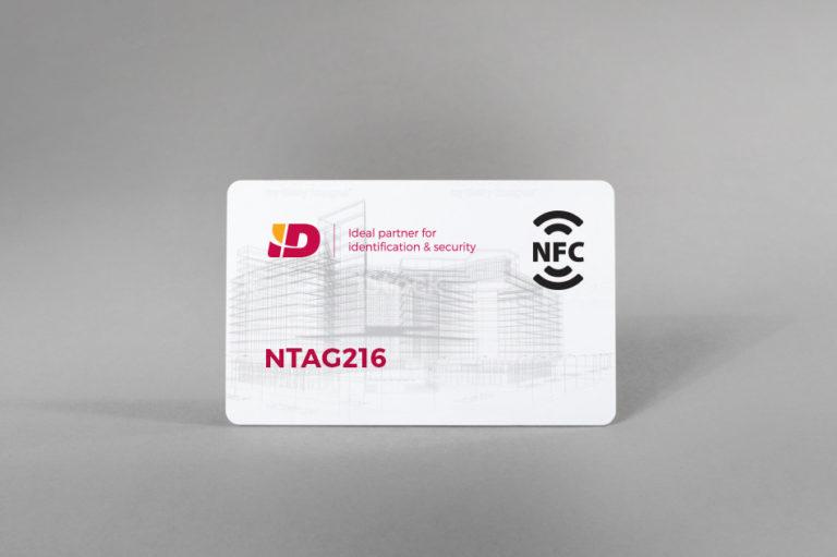 NFC bele PVC kartice NTAG216