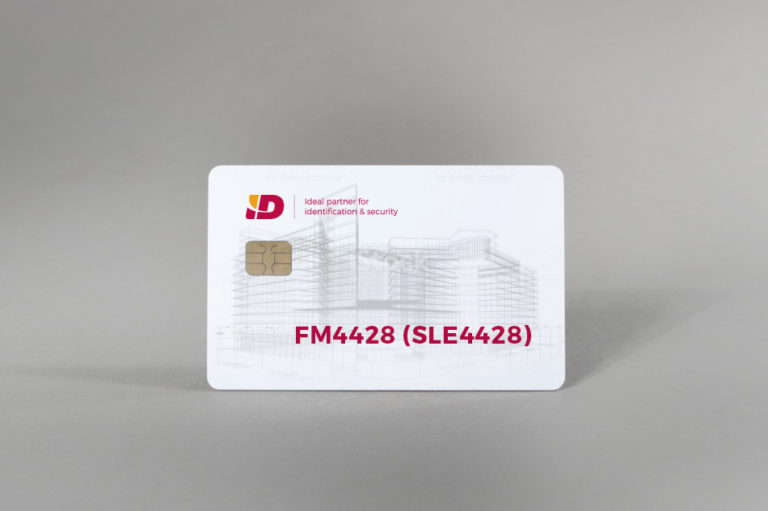 FM4428 (SLE4428) white gloss PVC card
