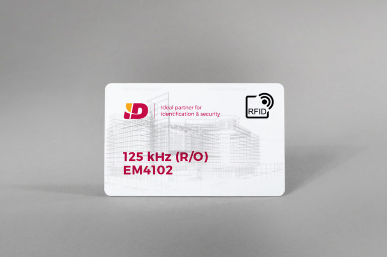 125 kHz RFID EM4102 blank PVC cards (standard or clamshell format)