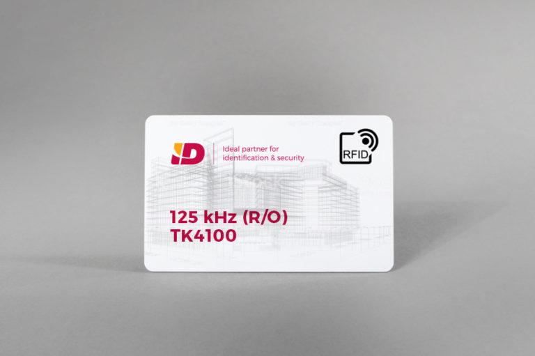 125 kHz (R/O) bele PVC kartice TK4100