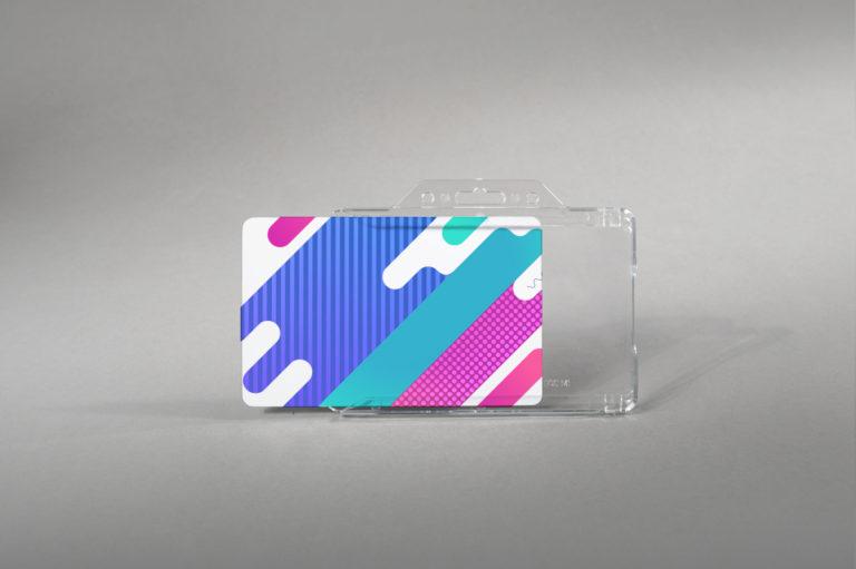 Robust light card holder (horizontal)