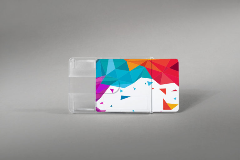 Premium trdi etui za kartice z zarezo za prst