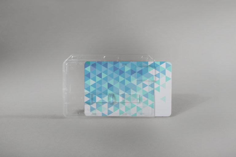 Rigid card holder with slide (horizontal)