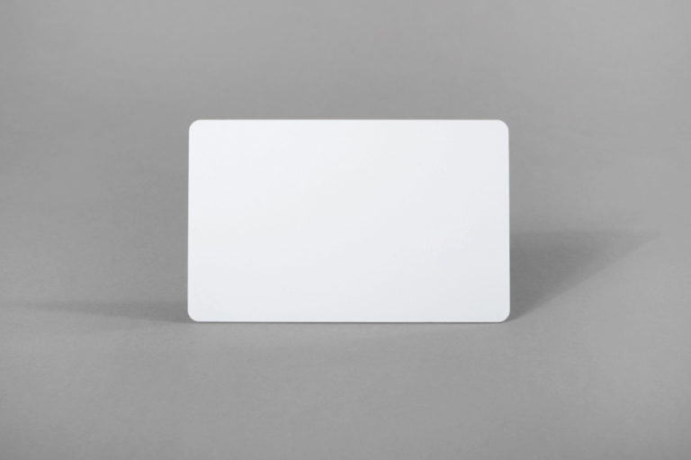 Rewritable blank white PVC cards