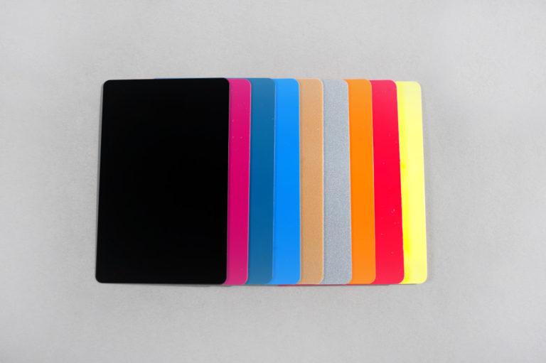 Blank colour PVC cards CR80 30 mil