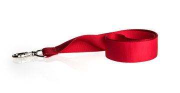 Red printed lanyard