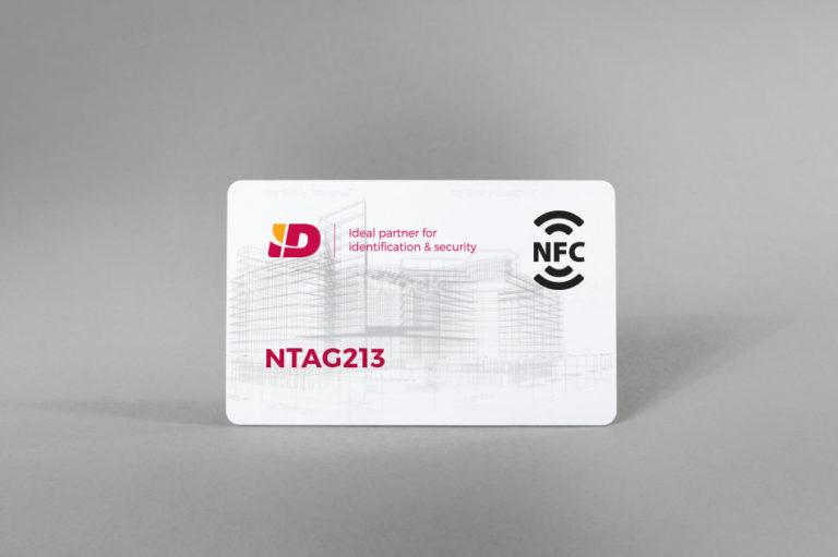NFC bele PVC kartice NTAG213