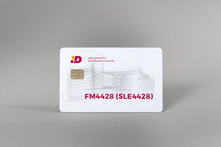 FM4428 (SLE4428) white gloss PVC card