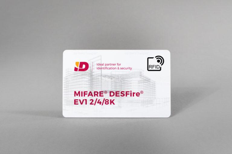 (Slovenščina) MIFARE® DESFire® EV1 (2/4/8K) bele PVC kartice