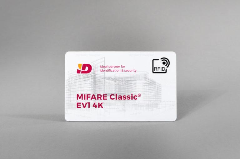 MIFARE Classic® EV1 4K bele PVC kartice