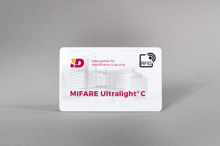 MIFARE Ultralight® C bele PVC kartice