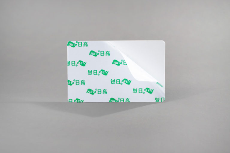 Blank white adhesive CR80 cards 10 mil