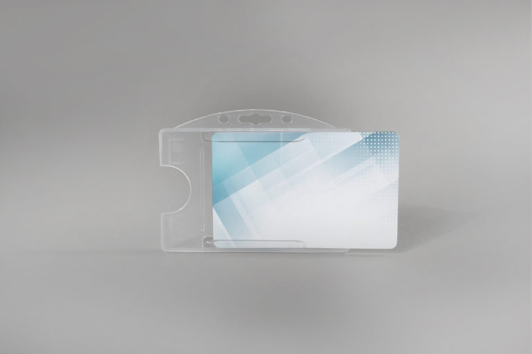 Open-Face hard PVC card holder (horizontal)