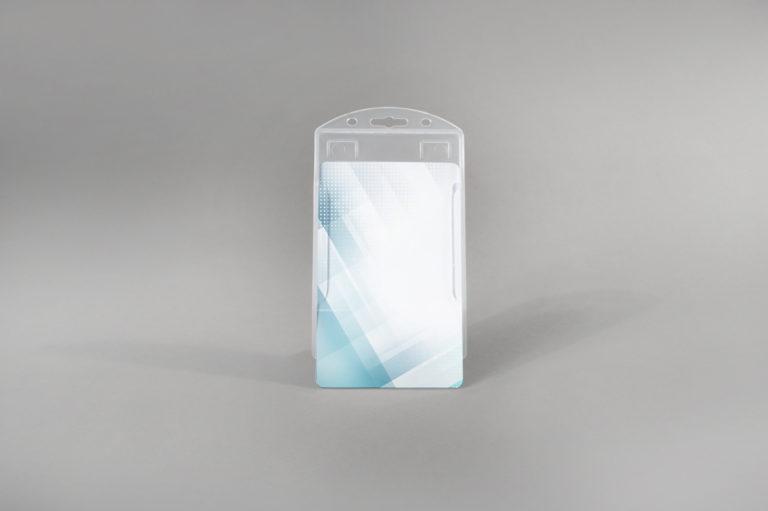Open-Face hard PVC card holder (vertical)