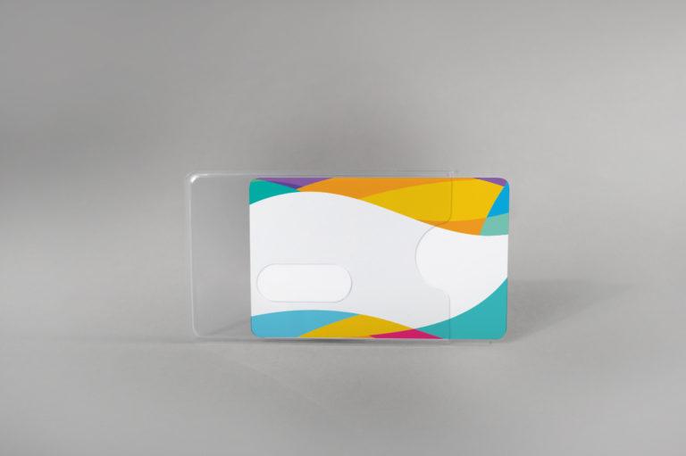 Robust rigid card holder with finger slot design