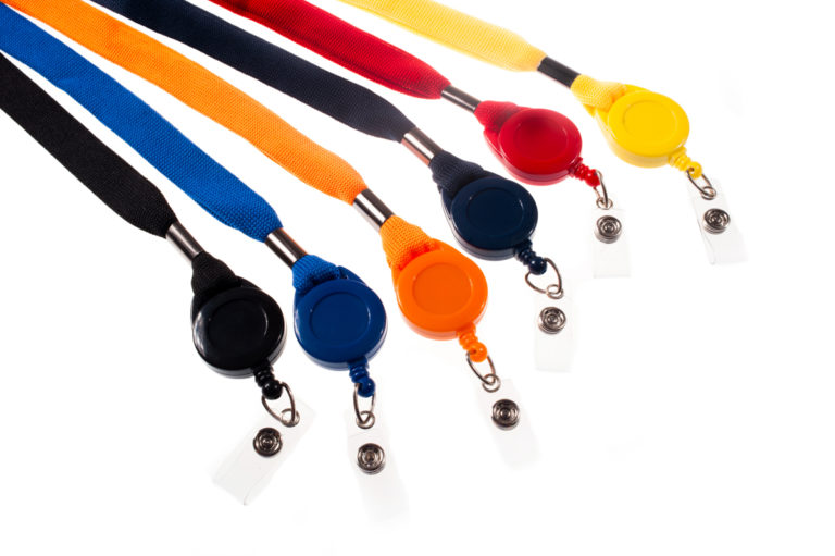 16mm break-away lanyard with badge reel