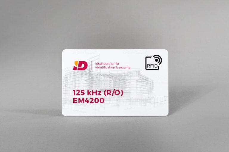 125 kHz (R/O) blank PVC card EM4200