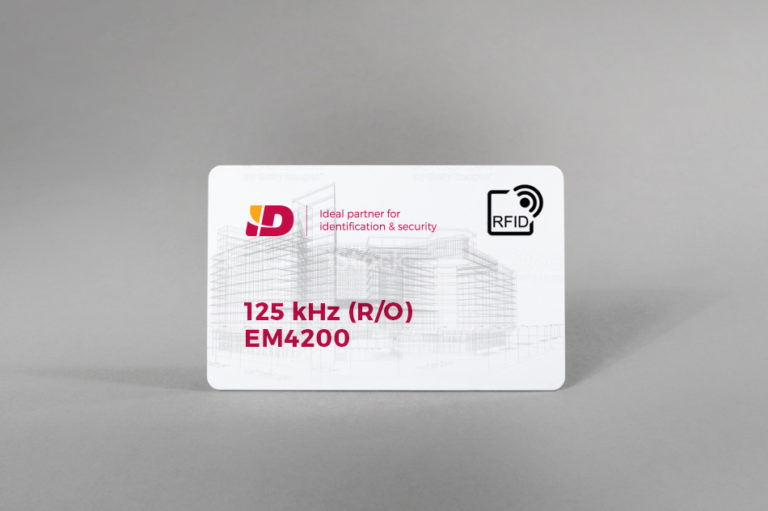 125 kHz (R/O) bele PVC kartice EM4200