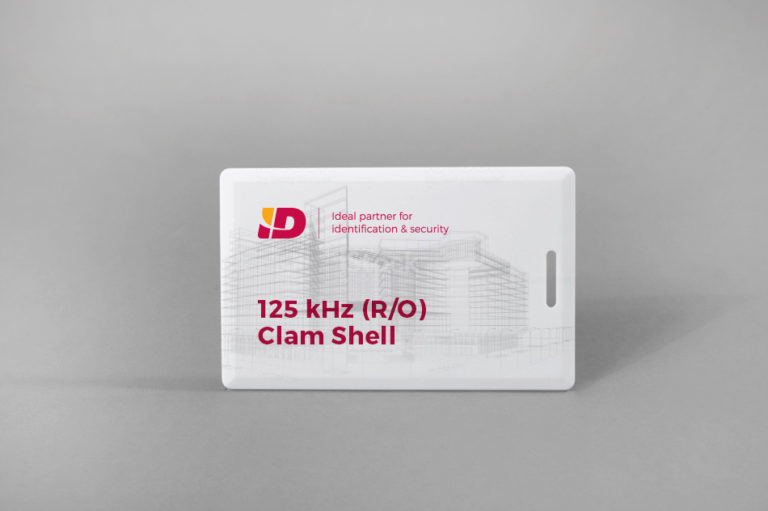 125 kHz (R/O) Clam Shell bele PVC kartica