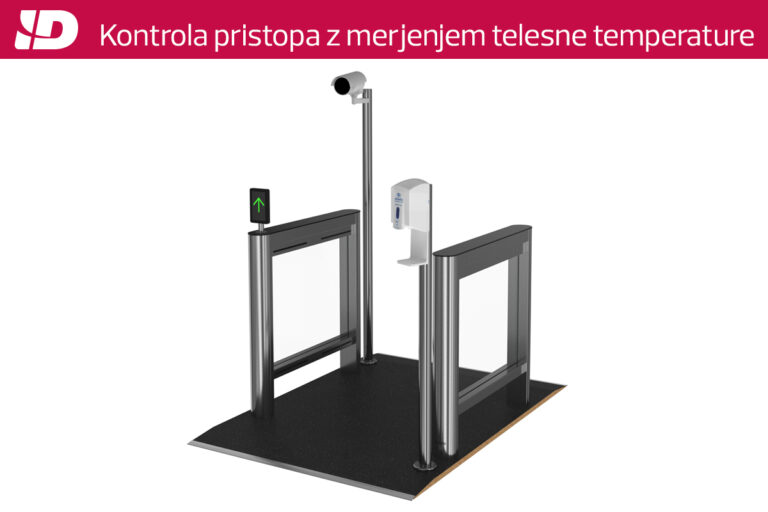 Varnostni prehodi s funkcijo merjenja telesne temperature in/ali štetja obiskovalcev