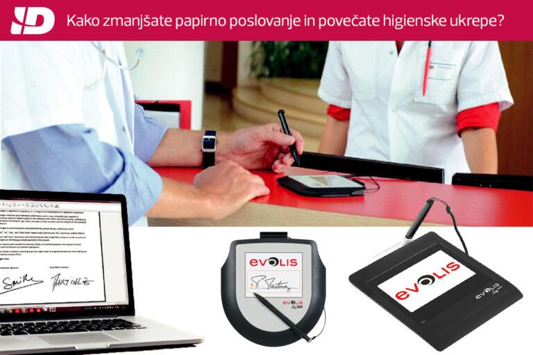 Podpisne tablice Evolis – ko želite zmanjšati papirno poslovanje ter hitro in varno zajemati elektronske podpise