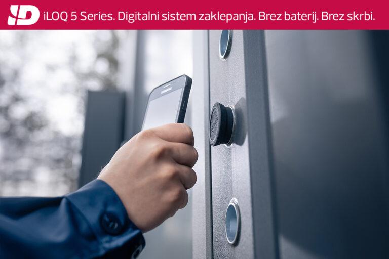 iLOQ 5 series: Prvi digitalni sistem zaklepanja na svetu z lastnim napajanjem.